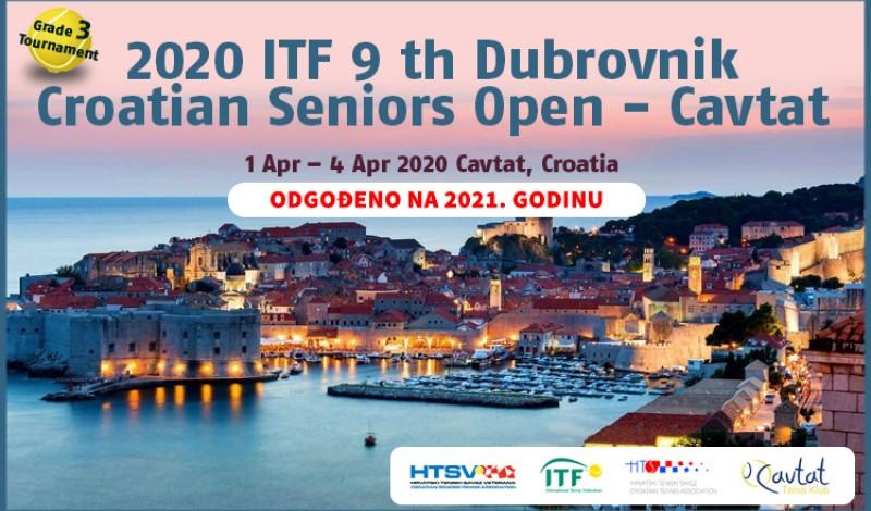 2020 ITF 9th Croatian Seniors Open,  Grade 3, Croatia